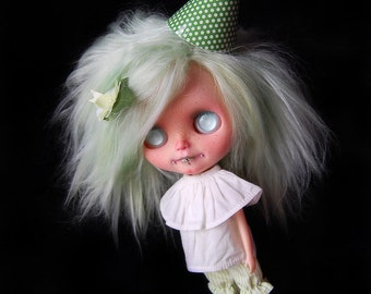 "MEGA CARNIVAL SALE! Custom Blythe doll Original Simpy Love Me alpaca rerooted ""Minty"" by Fausto & Gretchen. Layaway accepted."