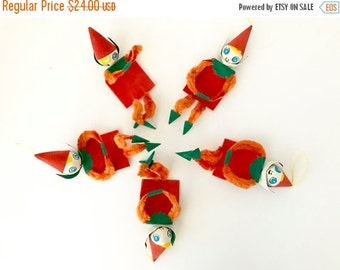 SALE 30% OFF CHRISTMAS Vintage Pixies Christmas Tree Ornaments Party Favors Elves