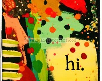 Hi- Print on Wood Canvas