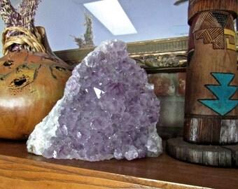 """Large  8"""" Amethyst Geode Cluster Home Decor Meditation Room or Altar Decor Reiki Energy Room"""