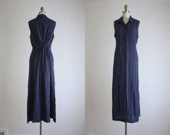 navy stripe field dress