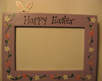 Easter frame, Happy Easter Easter Bunny personalized custom family photo picture frame