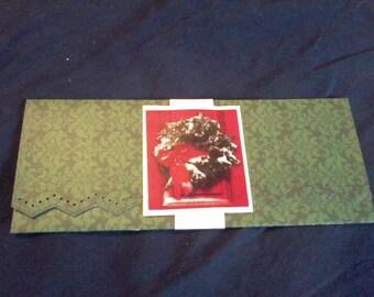 Money Holder, Voucher Holder, Gift Card Envelope, Money Envelope, Ticket Holder, Ticket Envelope, Holiday Envelope, Wreath