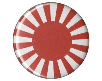 "Japan Rising Sun Flag 1.5"" Button Pin Pinback Button Badge ONE and a HALF INCH handmade homemade magnet 1"""