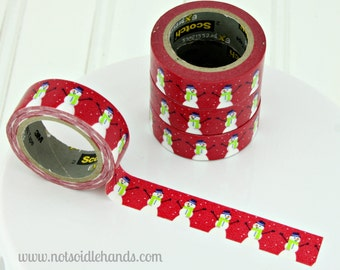 NEW!! Christmas Snowman Washi Tape Rolls Great for Christmas, Gift Wrapping