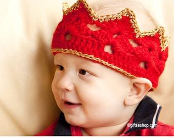 Crown Pattern Crochet Baby Crown- Crochet Headbands n49