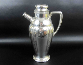 Vintage Silverplate Cocktail Shaker by Montclair Oneida Community LTD. Circa 1930's.