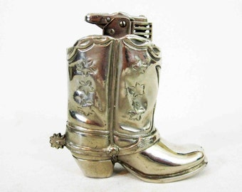 Vintage Cowboy Boot Table Lighter, Made in Occupied Japan. Circa 1945 - 1952.