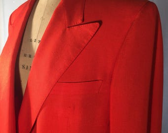Gianni Versace Red Pants Suit 1980s