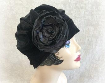 1920s Turbans - Women Fashion Turban - Soft Chemo Turban - Turbans For Women - 1930s Turban - Cloche Hats Women - Speakeasy Party - Costume