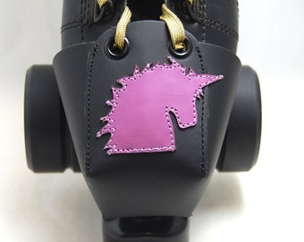 Leather Toe Guards with Lavender Unicorns - OR Choose Your Own Color!