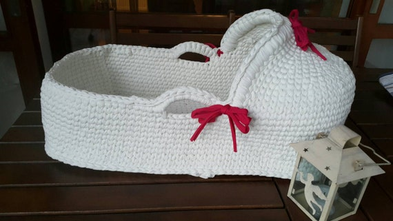 Baby Moses Basket Baby Bassinet Crocheted Moses