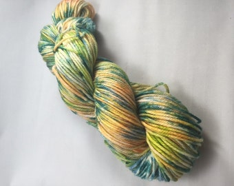 Garden Speckle - Merino Worsted Weight Yarn - 218 yards
