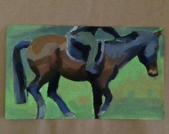 Study of horse 2- original acrylic painting