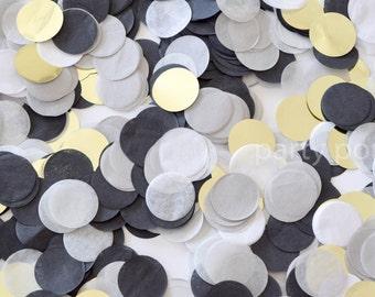 Black, Grey & Gold Confetti Mix