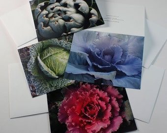 Garden Greeting Cards, Set of 4 Garden Cards, Note Cards