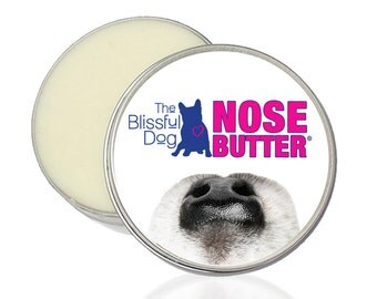 The ORIGINAL Dog NOSE BUTTER® Handcrafted All Natural Salve for Dry or Crusty Dog Noses Huge 8 oz. Tin With Just A Nose Labels in Gift Bag