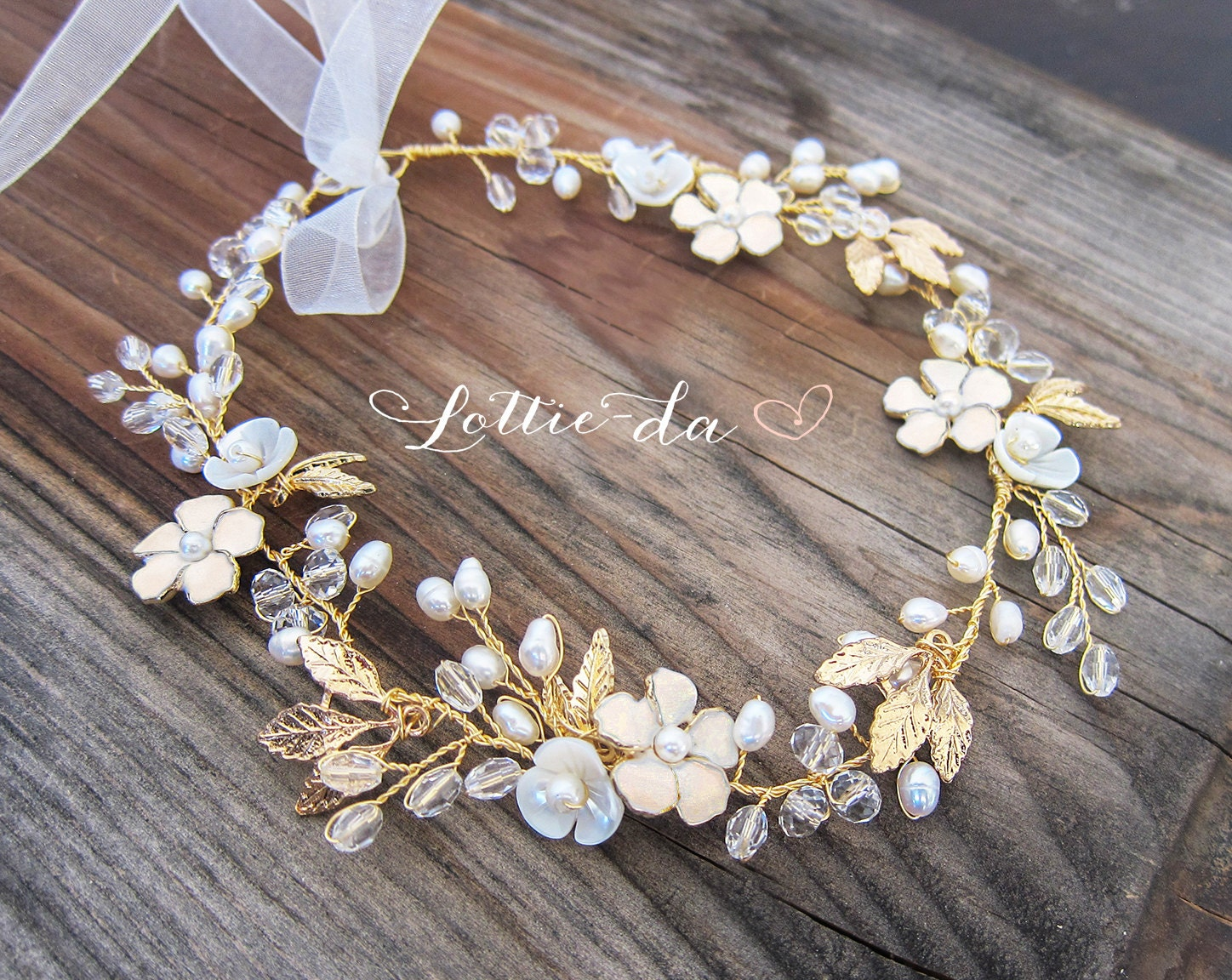 Boho gold hair flower crown halo hair wrap gold hair wreath zoom izmirmasajfo Image collections