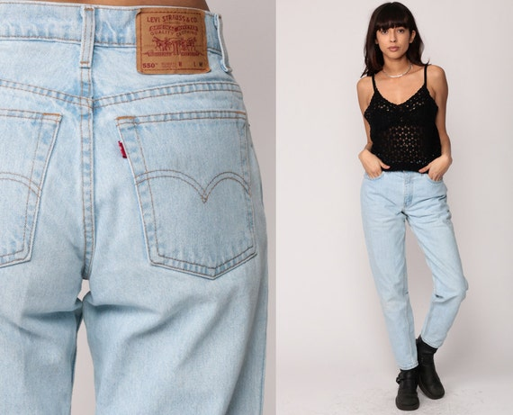 levis mom jeans high waist jeans 90s jeans light blue jeans. Black Bedroom Furniture Sets. Home Design Ideas