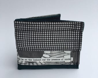 Bifold wallet, recycled wallet, men's wallets, handmade wallet, upcycled wallet