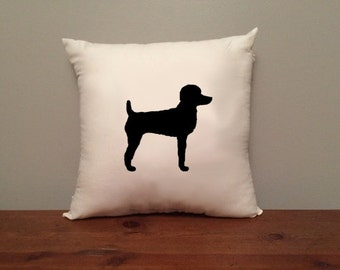 Poodle with Short Hair Pillow