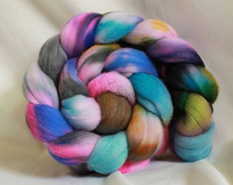 Hand painted/dyed fine merino (4.1 oz- 117 grams) #154