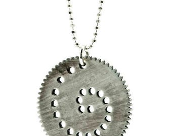Spiro S-Spirograph Necklace-Oxidized Silver-Industrial Design-Cool Accessory-Dirty-Urban-Spiral-MJ