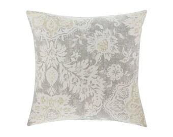 NEUTRAL Brown Grey Pillow Cover.Decorator Pillow Cover.Home Decor.Large Print. BELMONT MIST. Cushions. Cushion.Pillow. Premier Prints