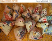 ON SALE Upcycled Mama Chicks, Lavender Chicks, Baby Chicks, Upcycled Old Quilt Chick Pincushion or Basket Filler~Reuse, Repurpose, Remade, O