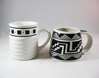 1990's Tribal Geometric Pattern Mugs