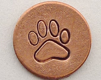 Metal Steel Stamps PAW PRINT Design Stamp Jewelry Stamping - The Urban Beader