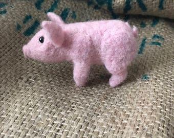 Made to order- needle felted piglet