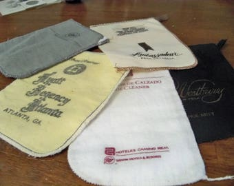 5 flannel soft shoe shine mitts