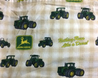 Twin single  fitted bed sheet John Deere tractors