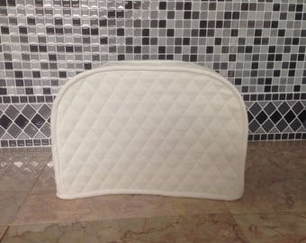 White 2 Slice Kitchen Toaster Cover Small Appliance Machine Made To Order