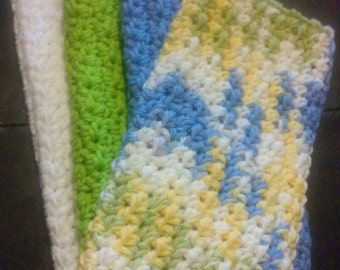 Dish Cloth /Facial Cloth / Wash Cloth / Crochet Wash Cloth Set of 2