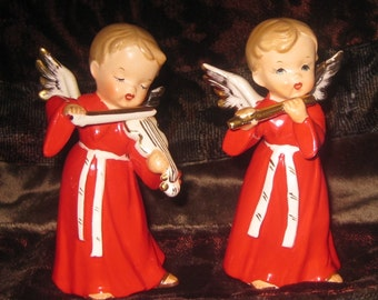 Adorable Pair of Vintage Christmas Angels, Japan