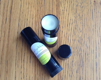Two Pk - 15ml Natural Lip Balm and Hand Lotion, Organic Coconut Oil, Grapeseed Oil, Locally Sourced Australian Bees Wax, Unscented Lip