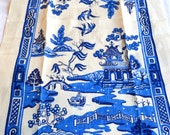 Vintage Linen Kitchen Towel - Blue Willow Kay Dee NWT