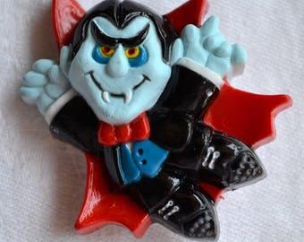 Vintage Halloween Pin Brooch - Dracula Vampire - 1981 Hallmark