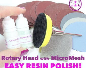 Rotary Tool Attachment and Sanding and Polishing Kit with MICROMESH, sand paper 80 -  7000 Grit