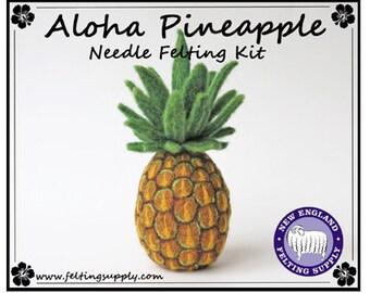 Aloha Pineapple Needle Felting Kit