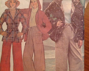 McCall's 5737 Hooded Jacket and Culottes  • small