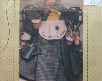 Thyme Began In A Garden/Craft Sewing Pattern by Country Stitches/1994/17 in Doll