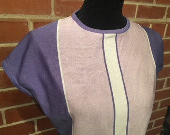 Ultra mod purple violet shell blouse