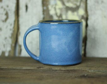 Blue Coffee Mug / Tea Cup / Hot Chocolate Mug / 14 Ounce Mug / Bright Sky Blue