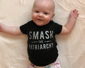 Smash the Patriarchy Glitter Baby Onesie