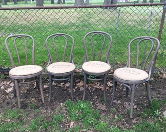 Antique Bentwood French Farmhouse Chairs (4)