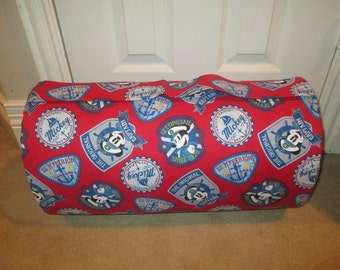 MONOGRAMMED Childrens THICK COMFY Nap Mat Pre School Mickey Mouse  has Attached Cuddle Double Sided Minky Blkt  Plw