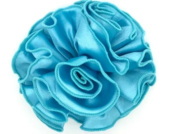 Blooming Delight Snap-In Dog Bows® Collar Attachment - Turquoise - Dog Accessories, Pet Accessories, Dog Collar Flower, Pet Attire